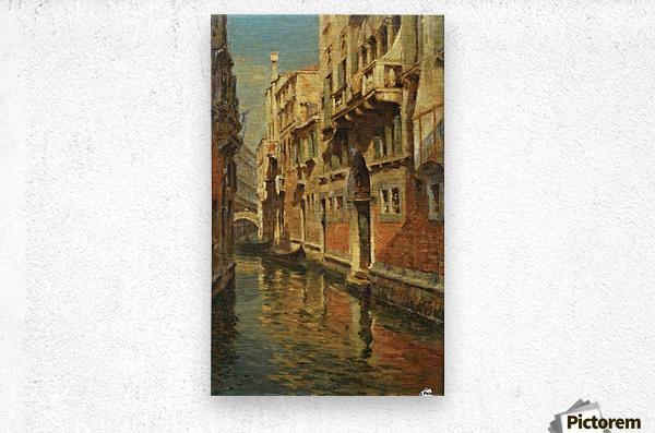 Shining morning in Venice  Impression metal
