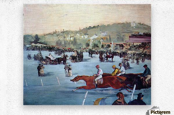 Races at the Bois de Boulogne by Manet  Metal print