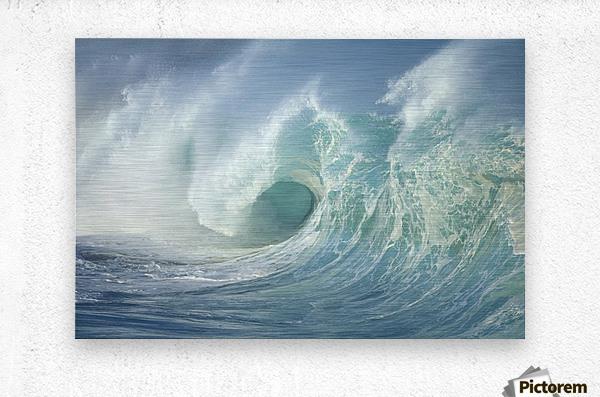 Huge Wave Curling, Crashing Side View Of Curl C1723  Metal print