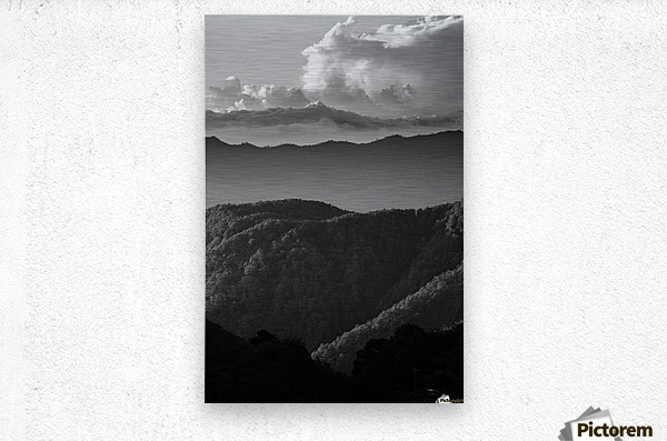 Layers of grey  Metal print