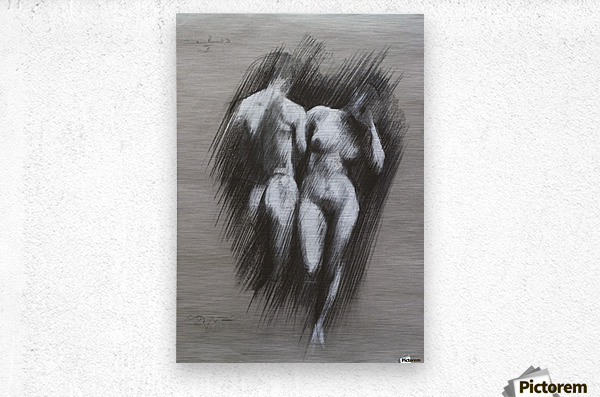Adam & Eve - 08-05-13  Metal print