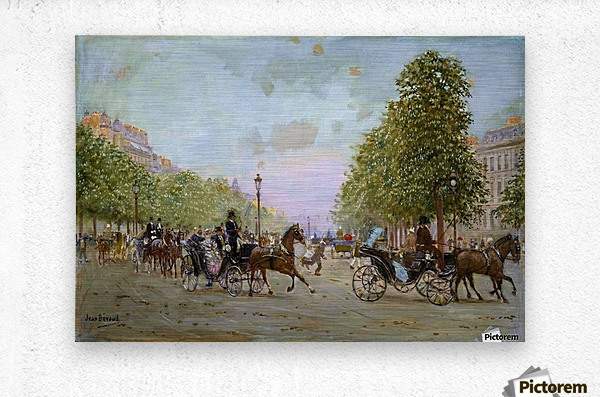 The Promenade on the Champs-Elysees  Metal print