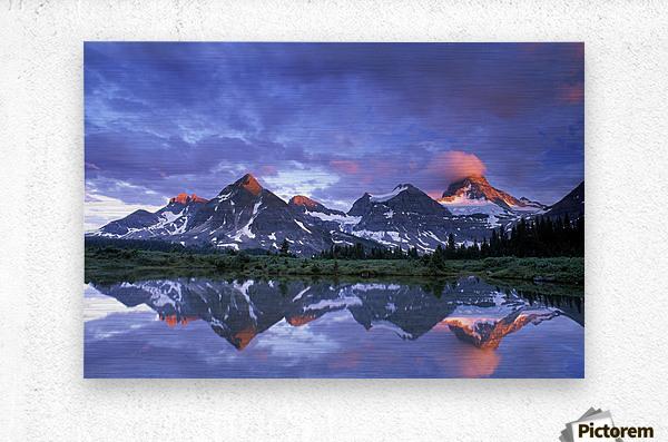 Mt Assiniboine Provincial Park, British Columbia, Canada  Metal print