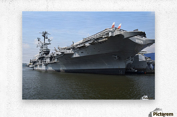 THE INTREPID, NEW YORK  Metal print