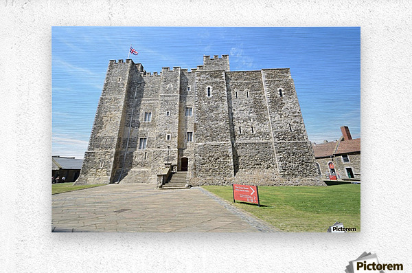 DOVER CASTLE, UK  Metal print