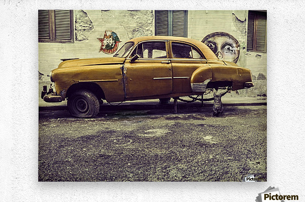 Old car cat  Metal print