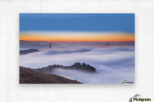 The Golden Gate Bridge in the Fog  Metal print