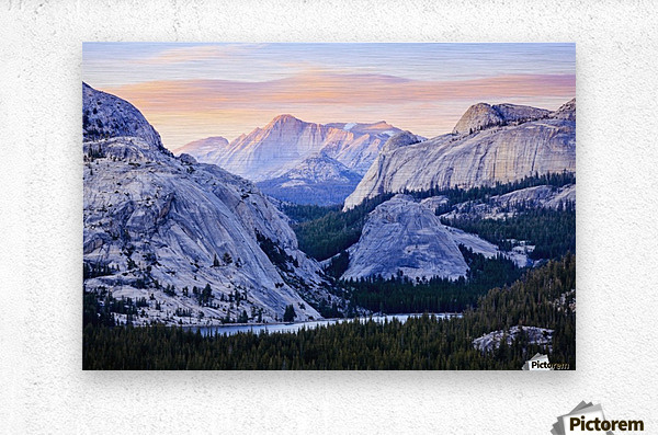 The high country in Yosemite National Park; California, United States of America  Metal print