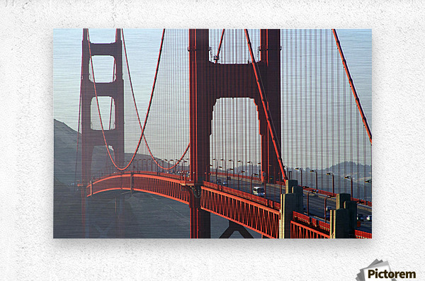 R.Watts; Golden Gate Bridge, San Francisco, Ca  Metal print