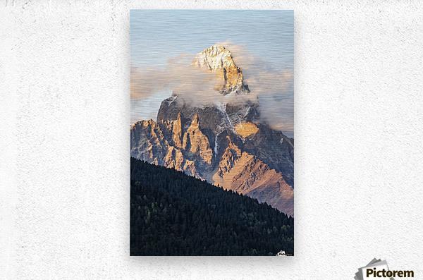 Mount Ushba, Caucasus Mountains, Zemo Svaneti National Park; Samegrelo-Zemo Svaneti, Georgia  Metal print
