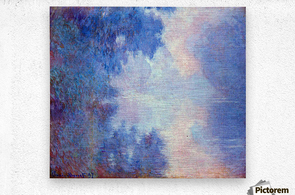 Seine in Morning by Monet  Metal print