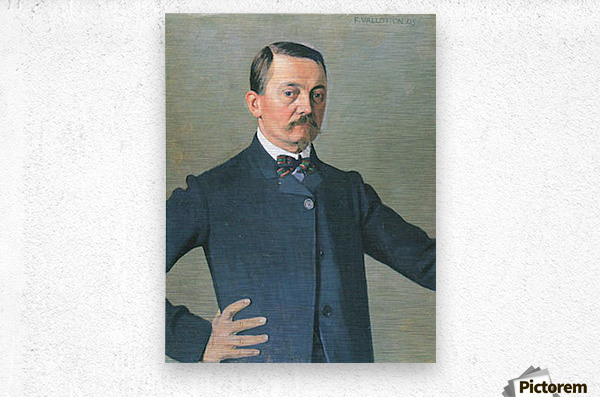 Self-Portrait by Felix Vallotton  Metal print