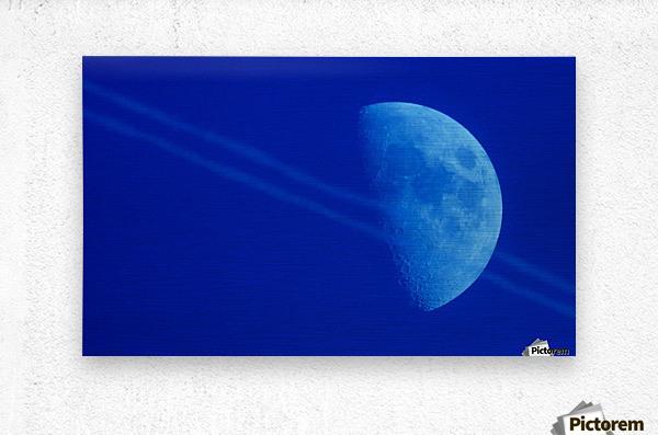 Moon lines  Metal print