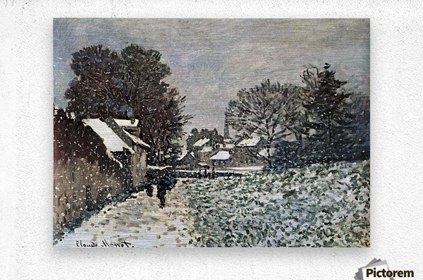 Snow at Argenteuil by Monet  Metal print