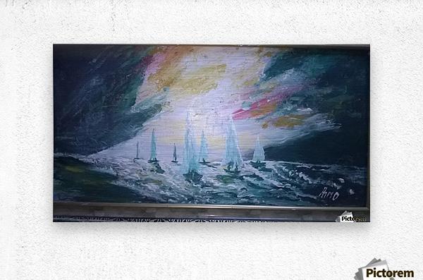 sail before storm  Metal print