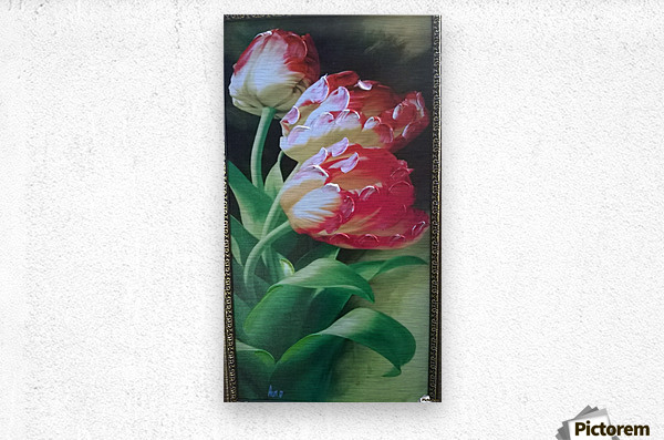 red flowers for  lovers   Impression metal