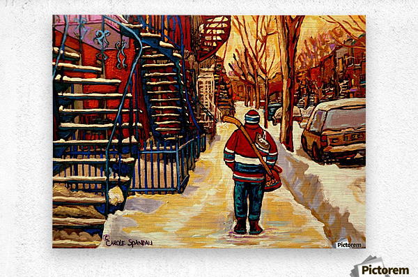 AFTER THE HOCKEY GAME  Metal print