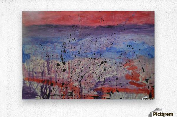 Abstract Sunset Wonder  Metal print
