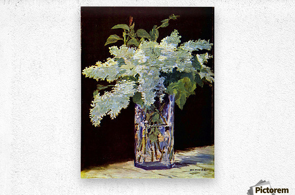 Still Life by Manet  Metal print