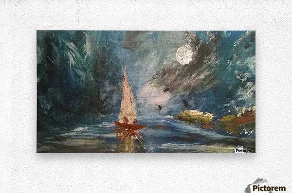 lost boat  Metal print