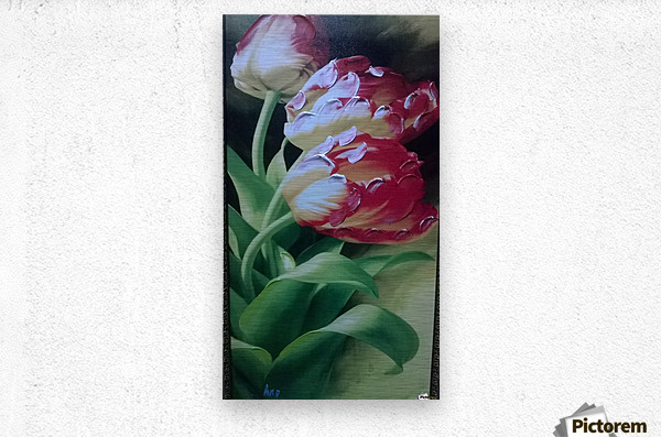 Red Love Flowers  Metal print
