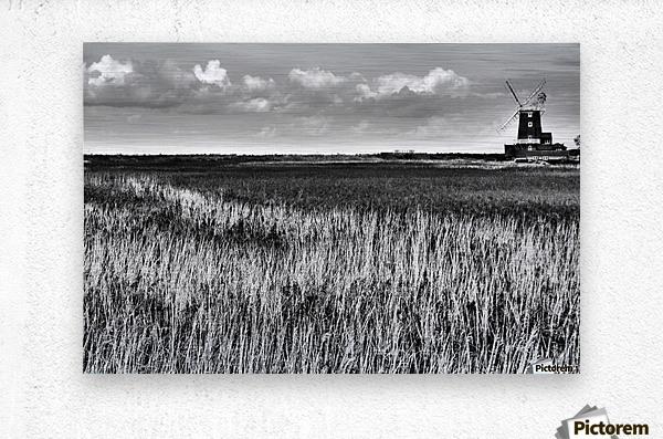 Marsh windmill  Metal print
