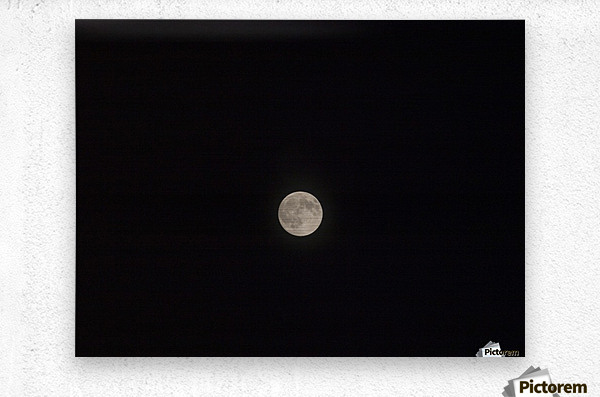 Photo image of a full moon on a clear night   Metal print
