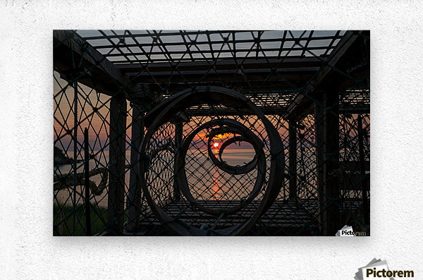 Trapped Sunset  Metal print