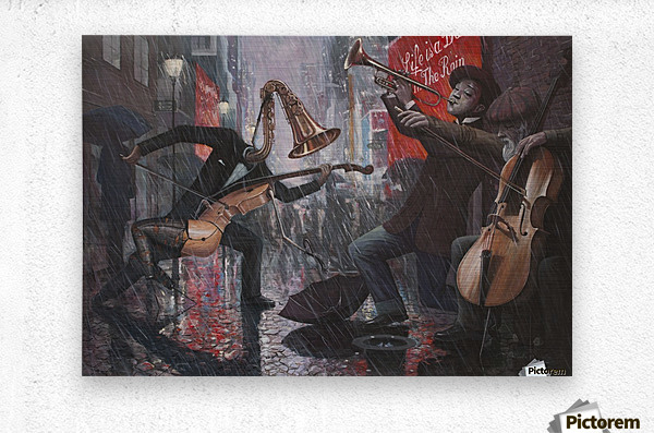 Life is a Dance in The Rain V  Metal print