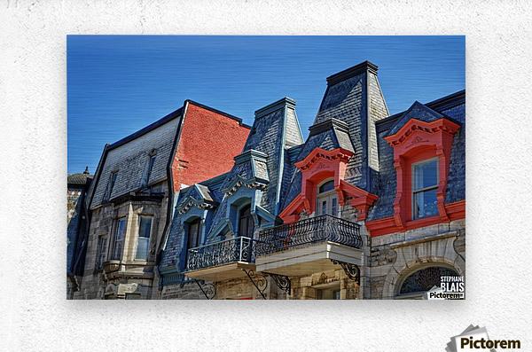 Montreal Rooftops  Metal print