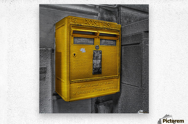 Old French Mailbox  Metal print
