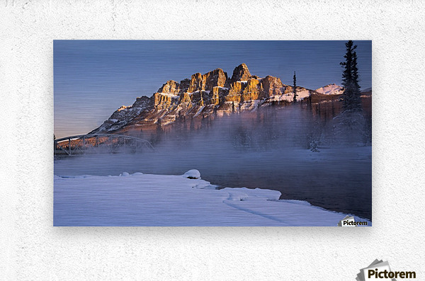 Castle morning  Metal print