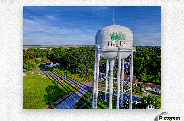 Lonoke, AR | Water Tower  Metal print