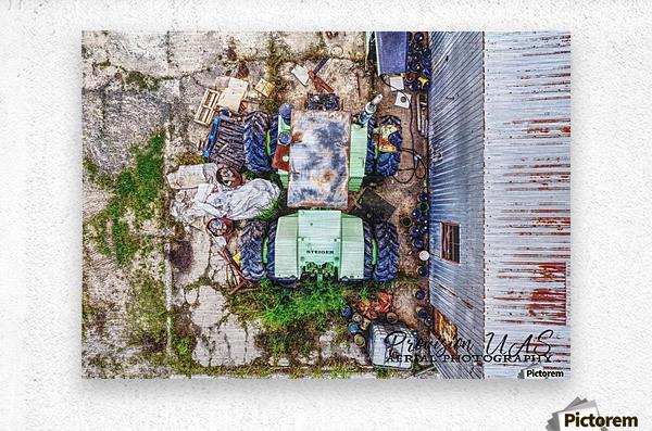 Lonoke, AR | Old Steiger Tractor   Metal print
