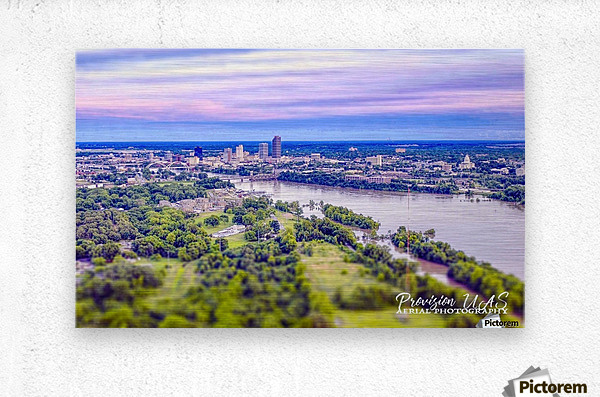 Little Rock, AR | Skyline  Metal print