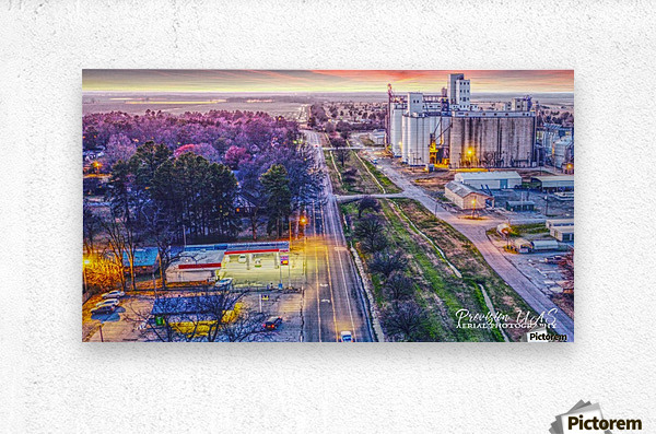 Lonoke AR | West down Hwy 70  Metal print