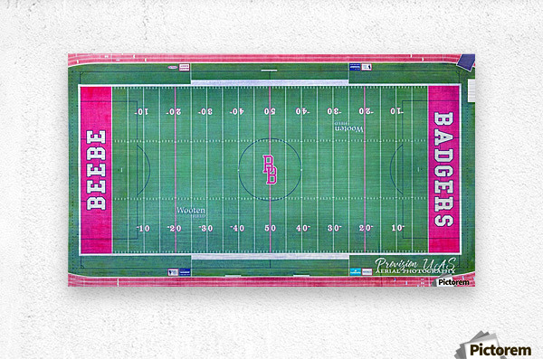 Beebe, AR | Badger Football Field  Metal print