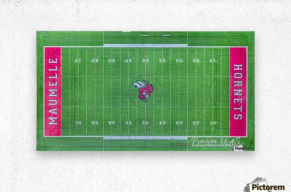 Maumelle, AR   Hornets Football Field  Metal print