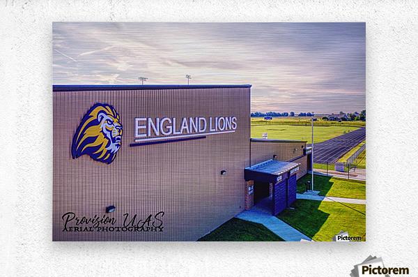 England, AR   Lions Field House & Stadium  Metal print