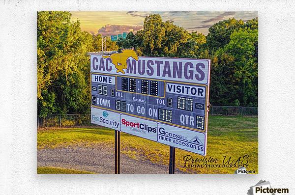 North Little Rock, AR | CAC Scoreboard  Metal print