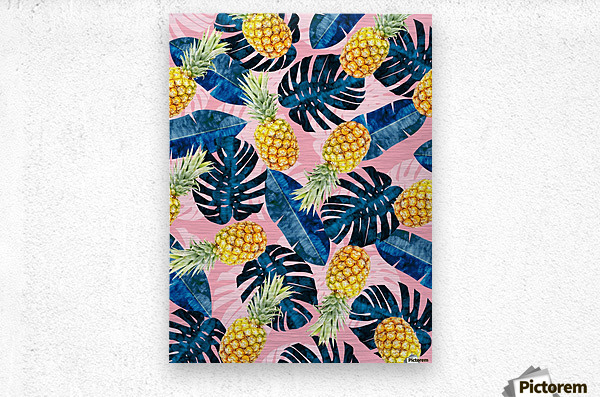 Tropical and exotic pattern  Metal print