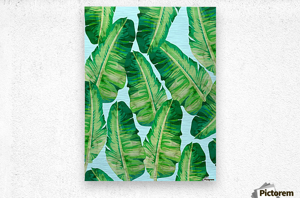 Tropical and exotic pattern II  Metal print