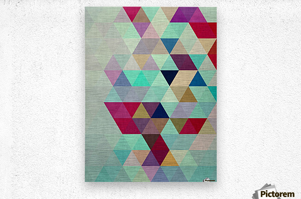 Cosmetic triangles IV  Metal print