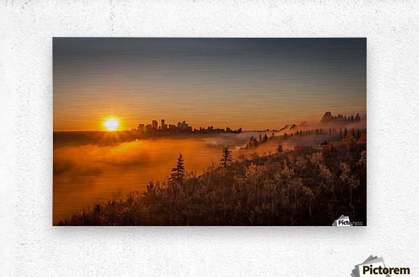 Calgary Sunrise  Metal print