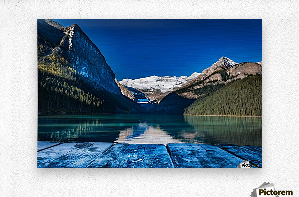Lake Louise Dock  Metal print