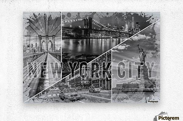 NEW YORK CITY Urban Collage No. 2  Metal print