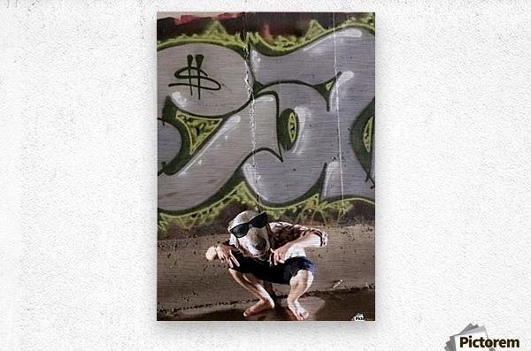 Graffiti Dawg  Metal print