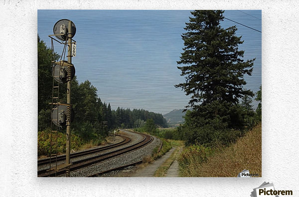 Riding The Rails  Metal print