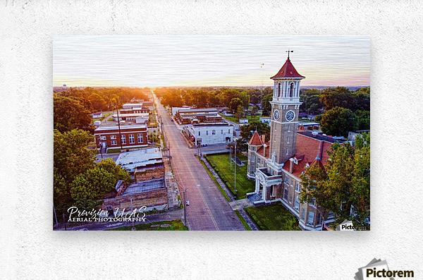 Clarendon, AR | Monroe County Courthouse  Metal print