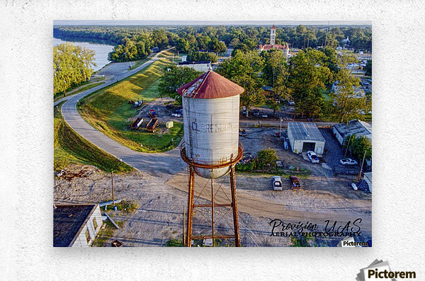 Clarendon, AR | Water Tower  Metal print